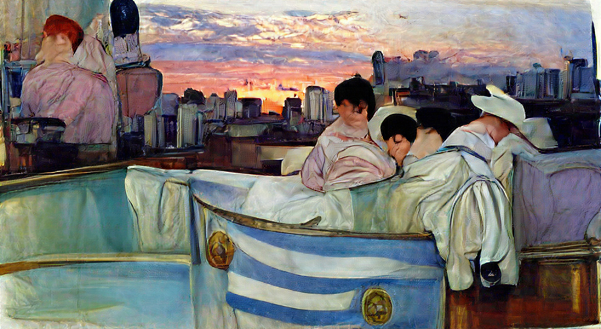 Buenos Aires Argentina at dawn by Mary Cassatt